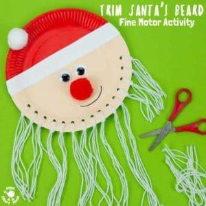 Trim The Beard Paper Plate Santa Craft