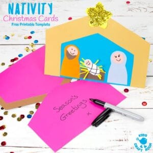 Christmas Card Nativity Craft
