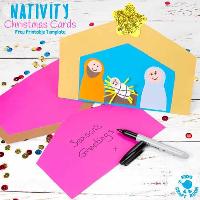 photo regarding Printable Nativity known as Cost-free Printable Nativity Xmas Card Template - Young children Craft