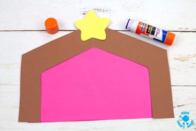 Christmas Card Nativity Craft step 3