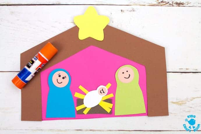 Christmas Card Nativity Craft step 8