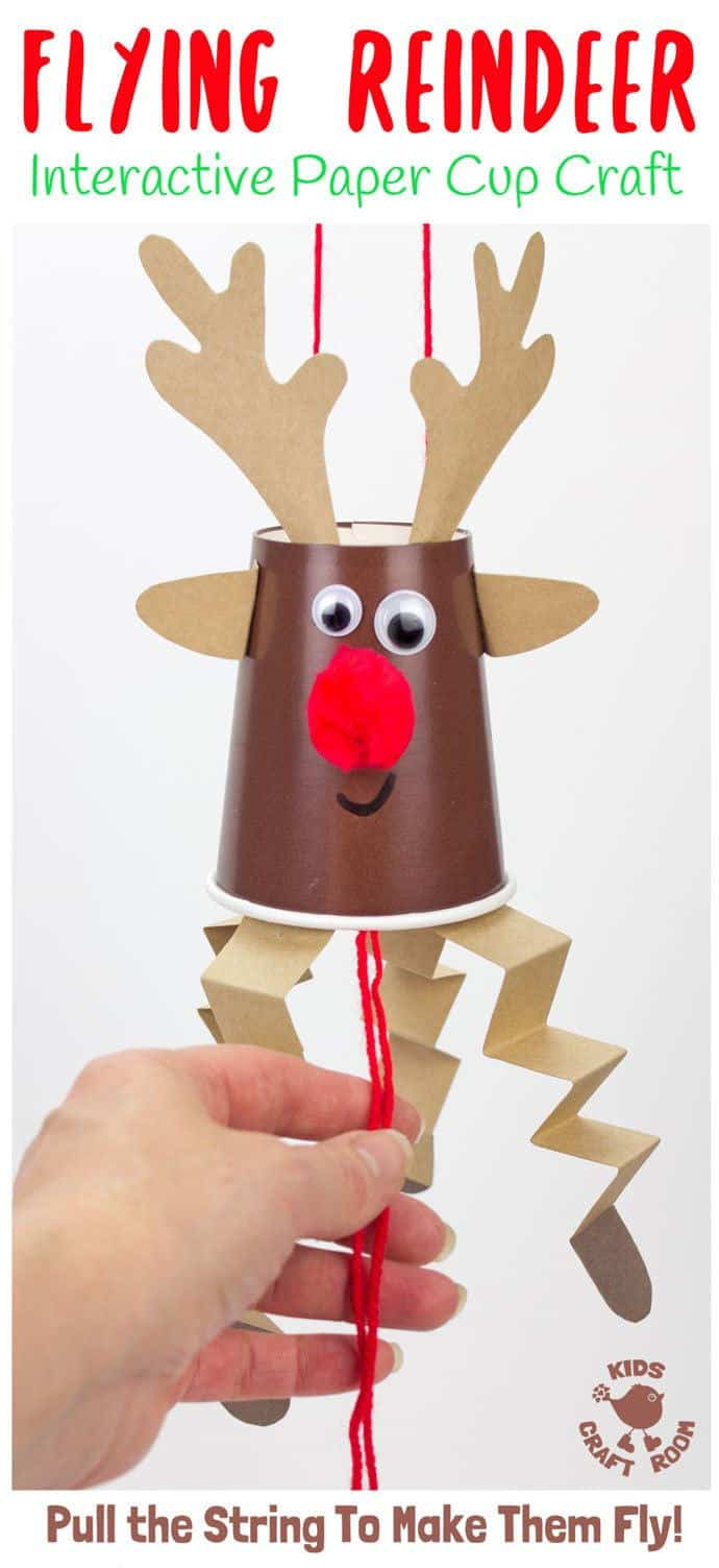 graphic regarding Pin the Nose on the Reindeer Printable referred to as Traveling Paper Cup Reindeer Craft - Little ones Craft Place
