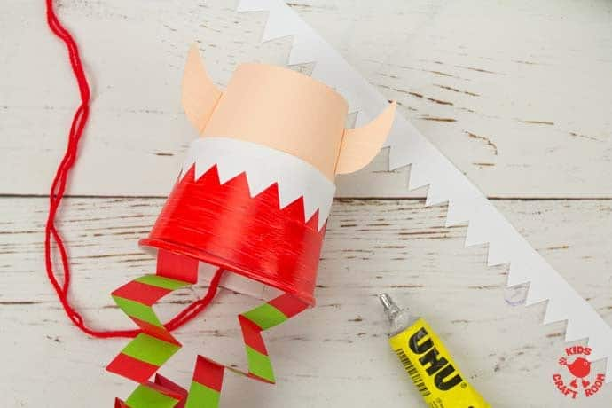 Jumping Paper Cup Elf Craft step 13
