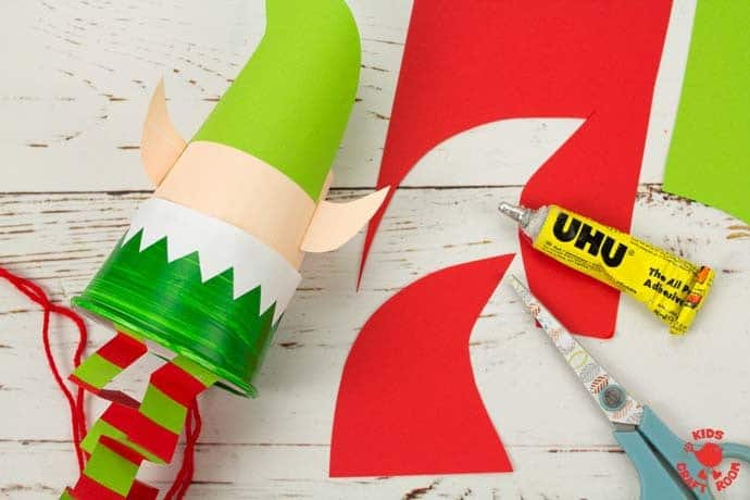 Jumping Paper Cup Elf Craft step 14