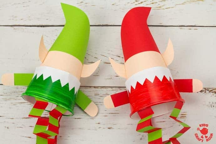Jumping Paper Cup Elf Craft step 16
