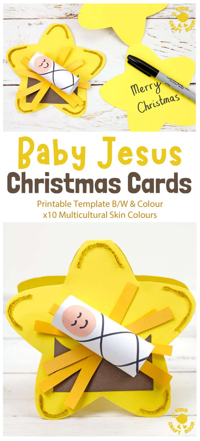 Christmas Cards - Baby Jesus Craft - pin image 1