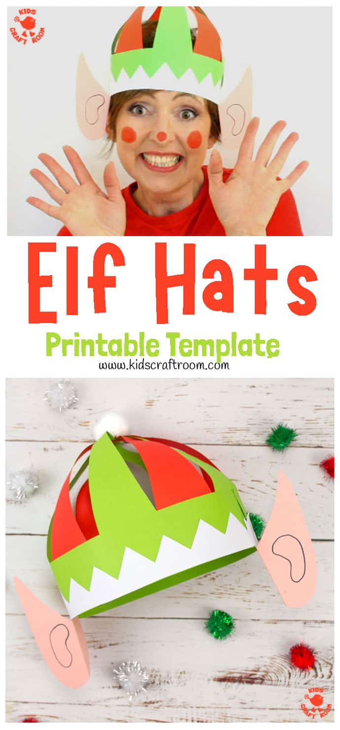 Christmas Elf Hat Craft pin 1
