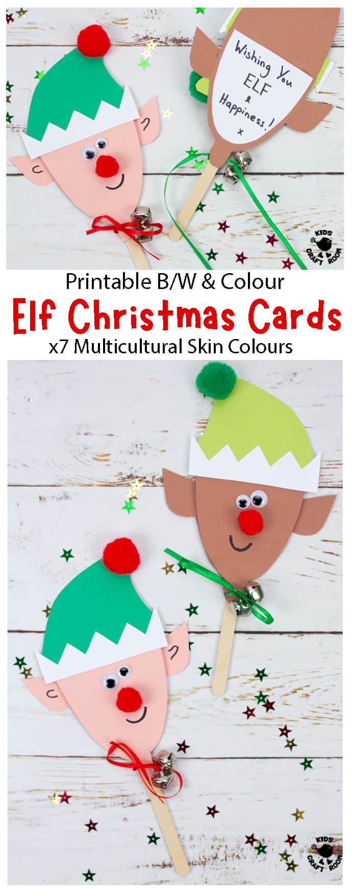 Puppet Elf Christmas Cards pin image 1