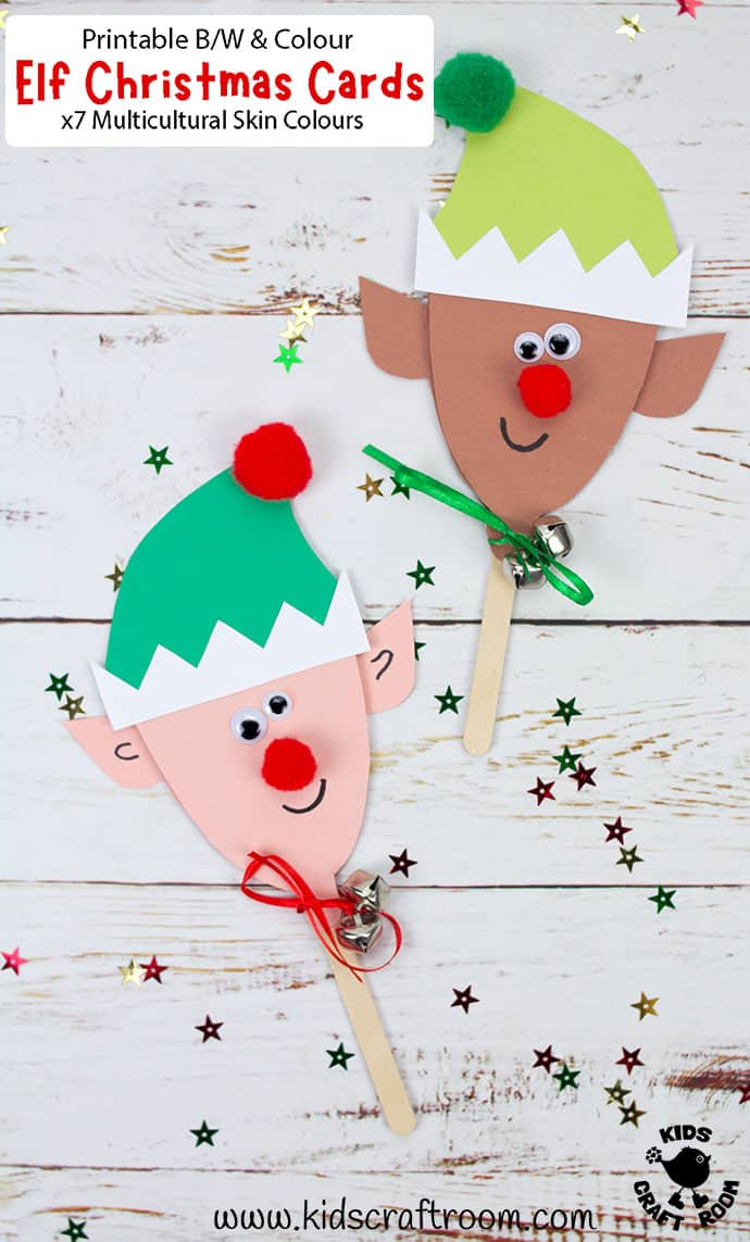 Puppet Elf Christmas Cards pin image 3