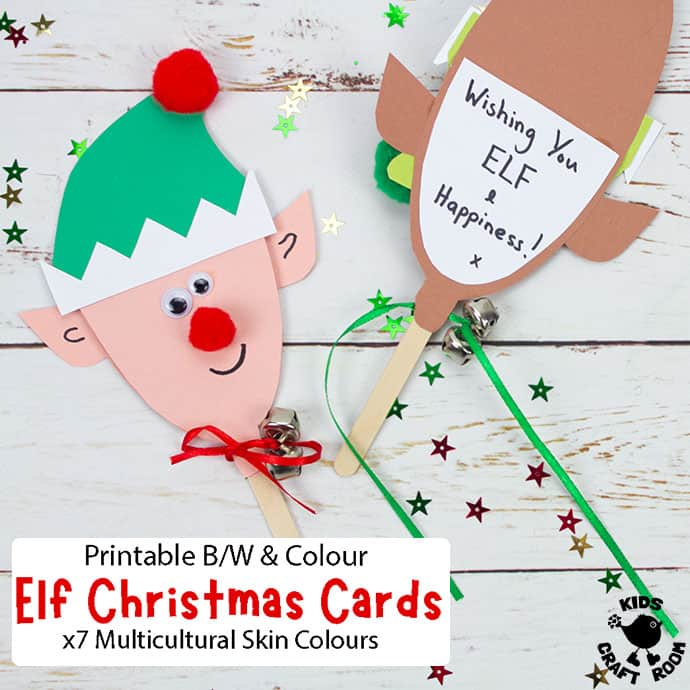 Puppet Elf Christmas Cards pin image 2