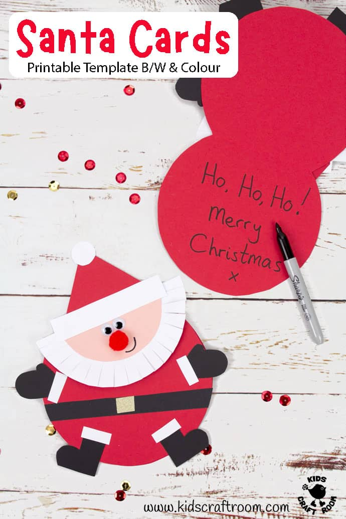 Round Santa Christmas Cards Craft pin image 4