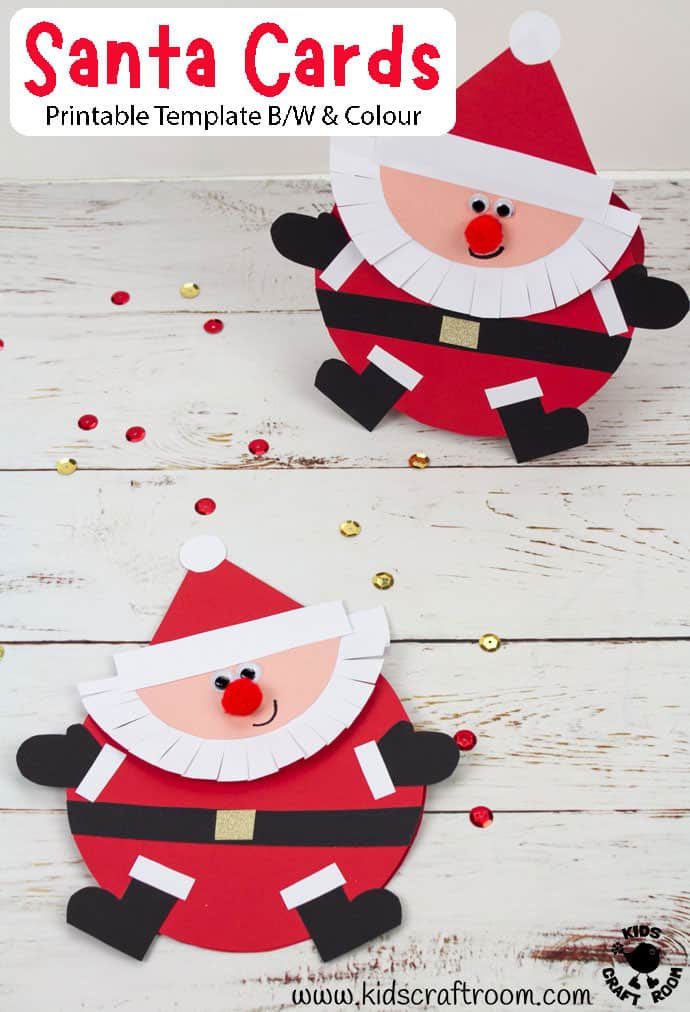 Round Santa Christmas Cards Craft pin image 2