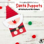 Cute Santa Finger Puppet With Printable Template