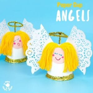 Pretty Paper Cup Angel Craft