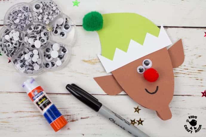 Printable Elf Christmas Cards step 5