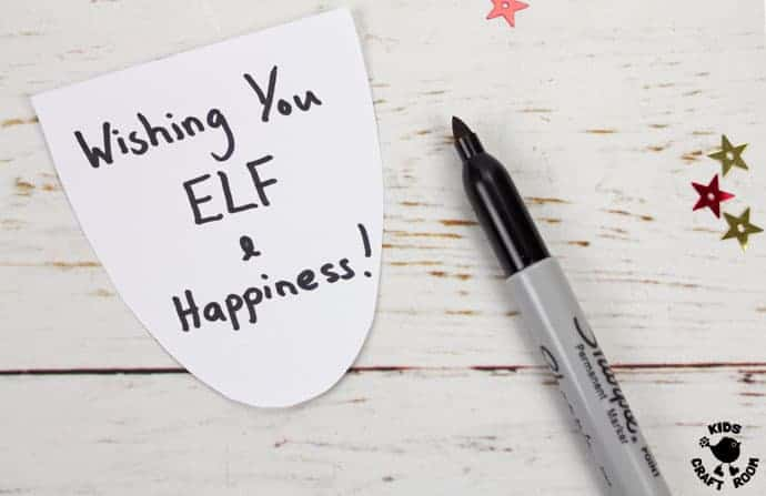 Printable Elf Christmas Cards step 9