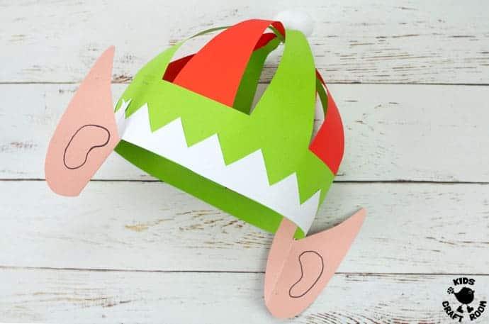 Printable Elf Hats step 12