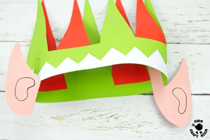 graphic about Elf Hat Printable identified as Adorable Elf Hat Craft Printable - Little ones Craft Space