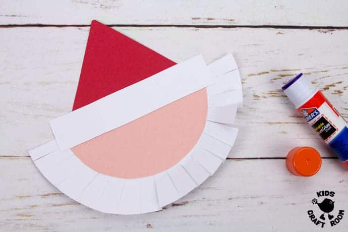 Round Santa Christmas Cards Craft step 4