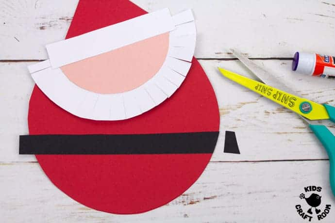 Round Santa Christmas Cards Craft step 5