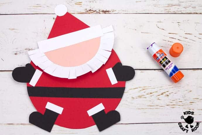 Round Santa Christmas Cards Craft step 6