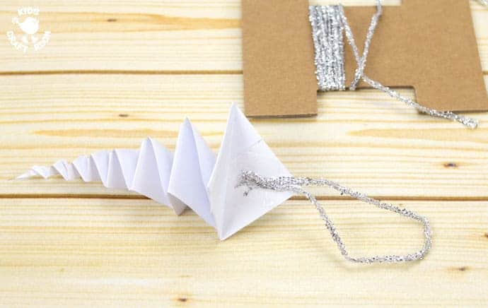 Folded Paper Icicle Craft Step 9