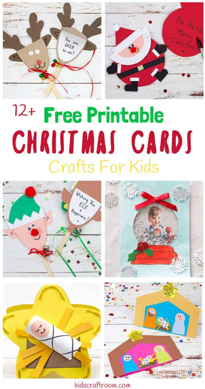 Printable Christmas Cards For Kids - Kids Craft Room