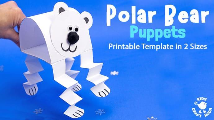 Polar Bear Puppet Craft pin 4