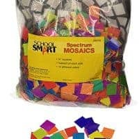 School Smart Spectrum Square Mosaic, 3/4 in, Assorted Color, Pack of 4000 - 085733