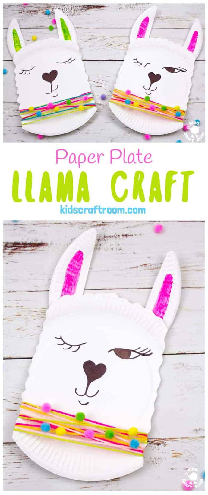 This Paper Plate Llama Craft is so adorable! It's a quick and easy llama craft for kids and a cute quirky idea for a Valentine's Day card too! Add a written llama pun message to make a llama valentine craft that's sure to delight! Llama be your Valentine! #kidscraftroom #kidscrafts #llama #llamacraft #valentine #valentinesday #valentinesdaycrafts #llamas #paperplatecrafts