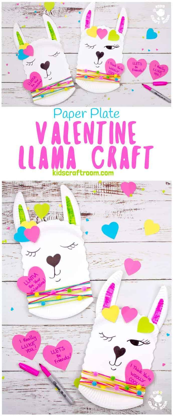 Lama Valentijnsdag kaart knutselen met kinderen