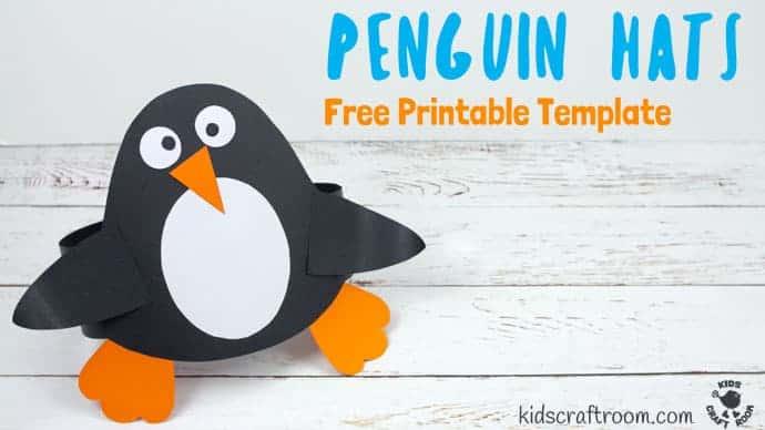 fun penguin hat craft kids craft room