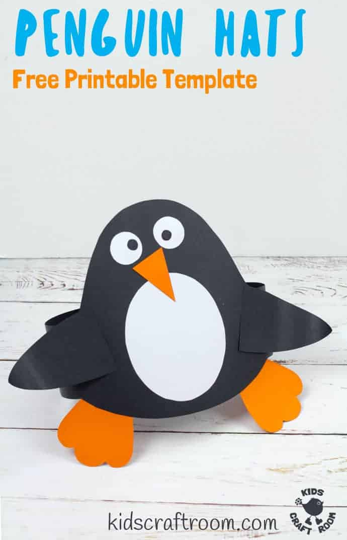 picture relating to Penguin Template Printable identified as Enjoyable Penguin Hat Craft - Young children Craft Area