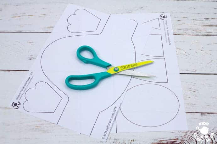 Printable Penguin Hat Craft step 1