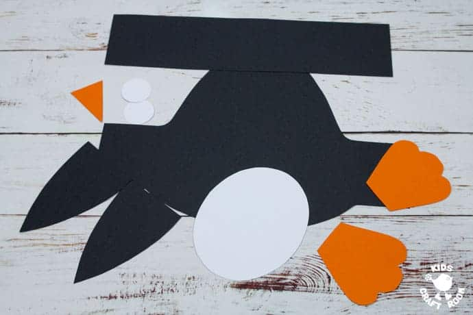 Printable Penguin Hat Craft step 3
