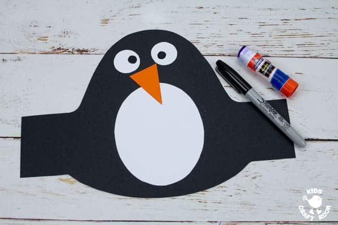 Printable Penguin Hat Craft step 4