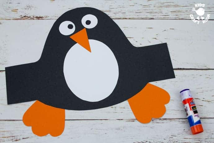 Printable Penguin Hat Craft step 5