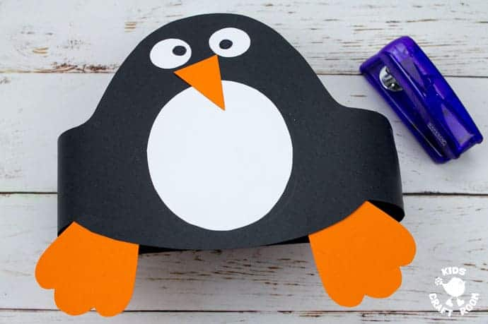 Printable Penguin Hat Craft step 6