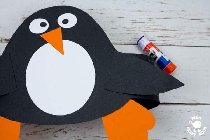 Printable Penguin Hat Craft step 7