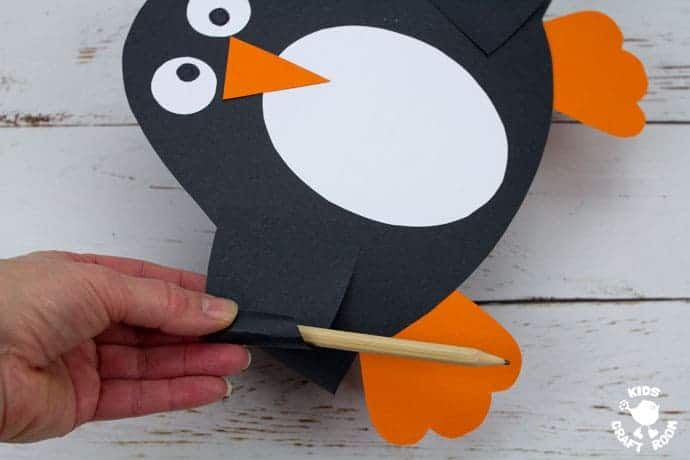 Printable Penguin Hat Craft step 8