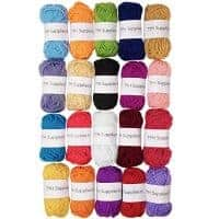 Acrylic Yarn Assorted Colors Skeins - (20 Pack)