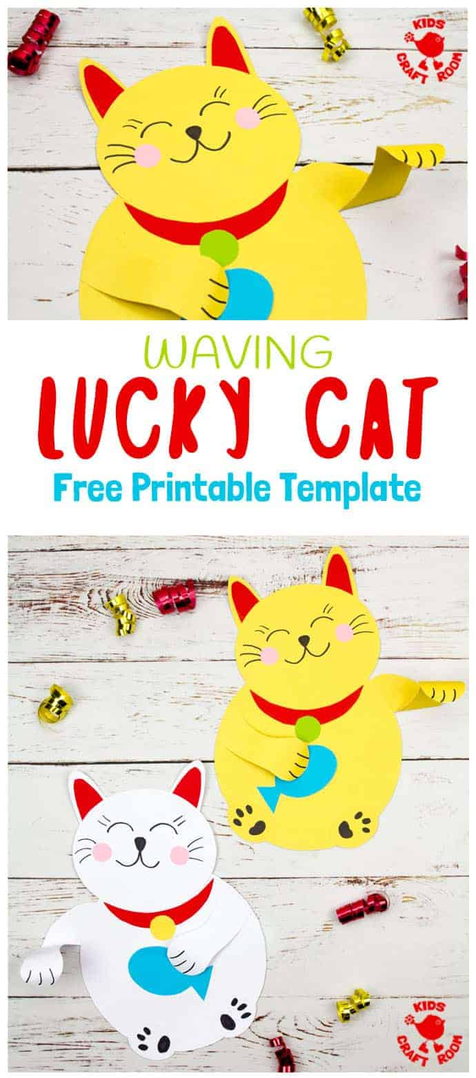 Waving Chinese Lucky Cat Craft Kids Craft Room