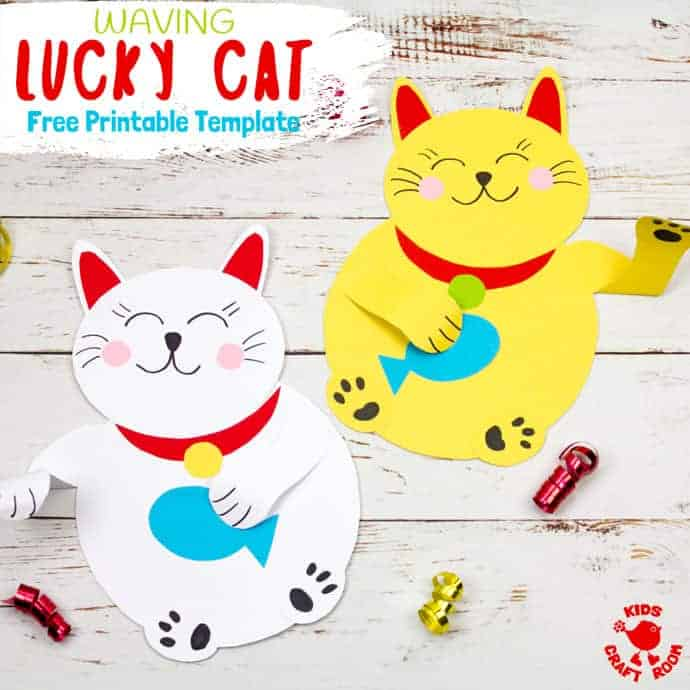Waving Chinese Lucky Cat Craft