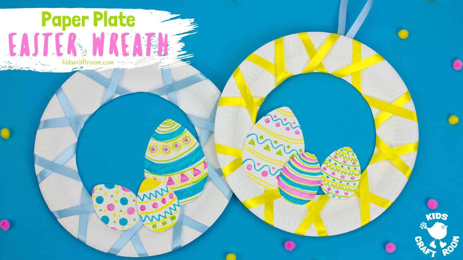 Easy Peasy Paper Plate Easter Wreath Kids Craft Room
