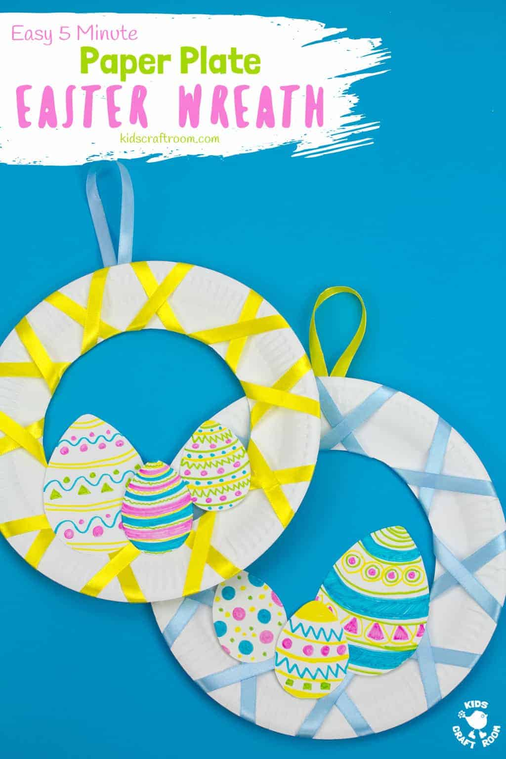 Easy Peasy Paper Plate Easter Wreath Kids Craft Room