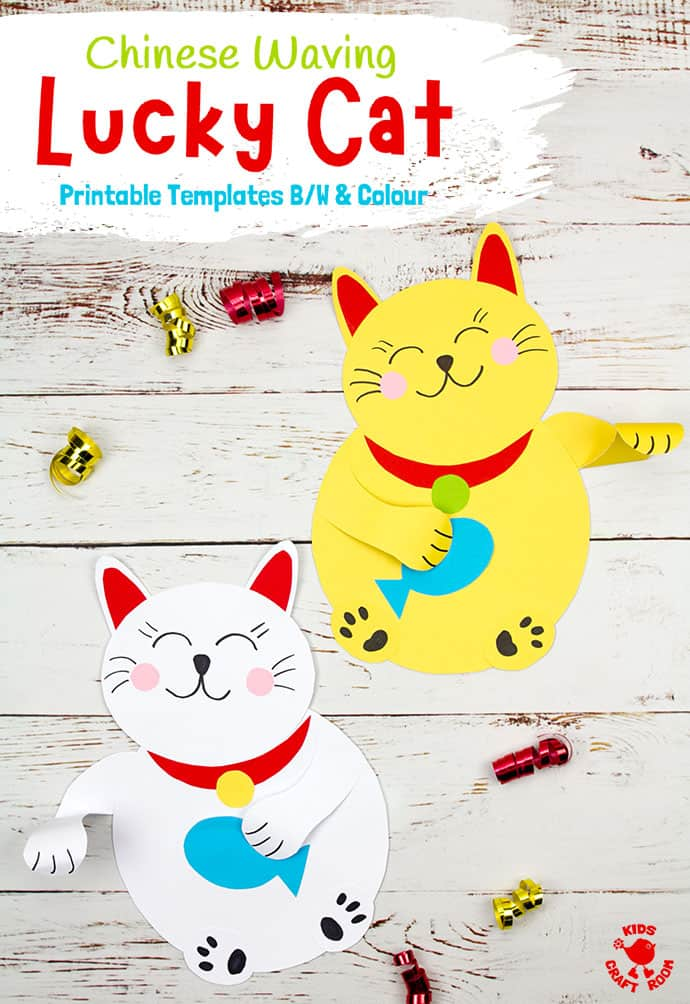Waving Chinese Lucky Cat Craft pin 5
