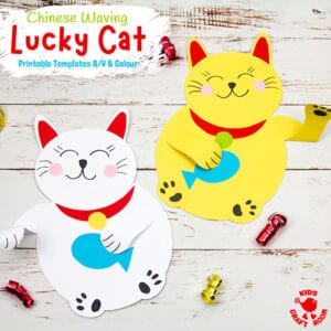 Waving Chinese Lucky Cat Craft