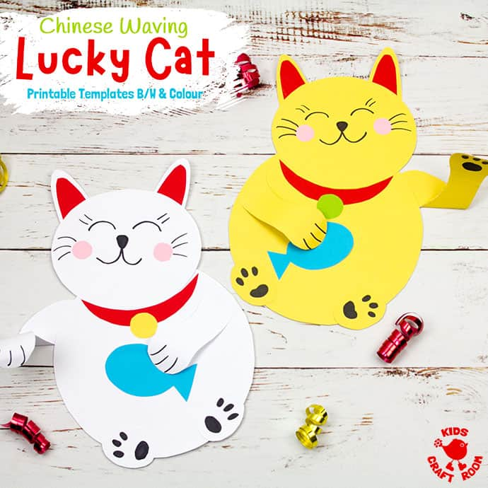 Waving Chinese Lucky Cat Craft pin 3