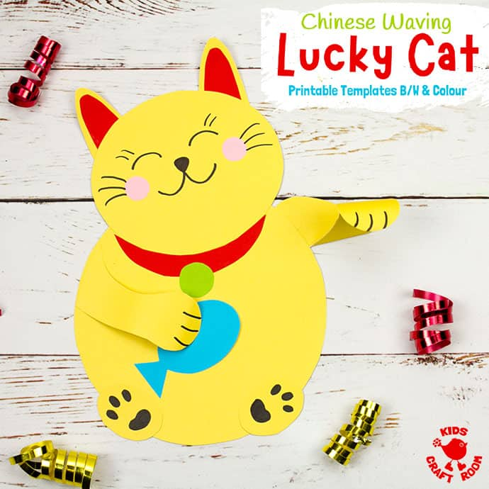 Waving Chinese Lucky Cat Craft pin 2
