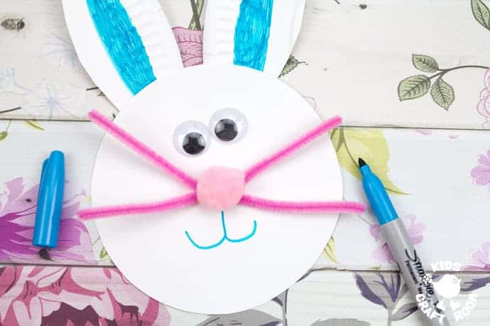 Paper Plate Easter Bunny Wreath Craft Kids Craft Room